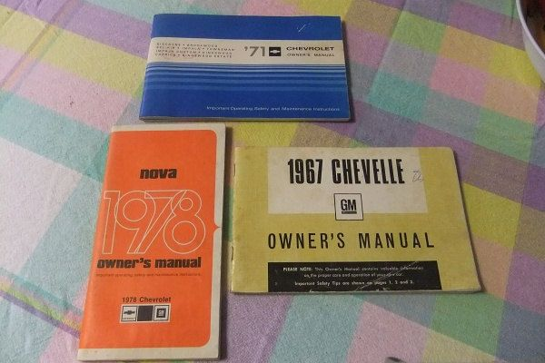 Classic Car Manuals - 3 Vintage Car Owners Manuals by ThriftyMidge on Etsy