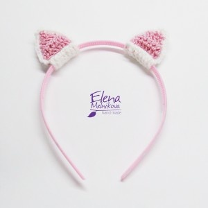 Crochet cat ears.  Open site in Chrome and it will translate it for you.