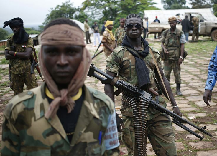 Seleka fighters stand in their base before a mission in the town of Lioto, Central African Republic, June 9, 2014.REUTERS/Goran Tomasevic