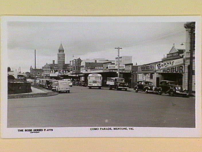 COMO PARADE, MENTONE, VIC. [picture] , State Library of Victoria