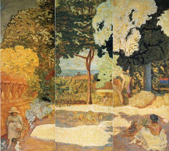 Пьер Боннар. «У средиземного моря. Триптих». 1911 г.