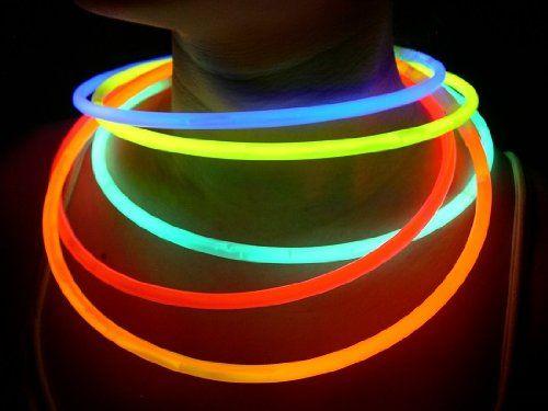 "100 Glow With Us Brand 22"" Superior Assorted Glow Necklaces Sticks Bulk Wholesale Glowsticks W/ 100 Free Assorted Glow Bracelets, 2015 Amazon Top Rated Light-Up Toys #Toy"