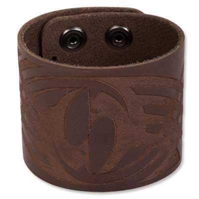 BICO AUSTRALIA JEWELRY - Leather Bracelet (BWB3) - Brown, 8.75 inch Length, 2 inch Wide Bico Australia Jewelry - Bracelets. $23.95