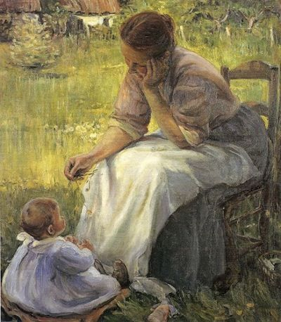 Motherhood, by Elizabeth Norse (1860-1938)