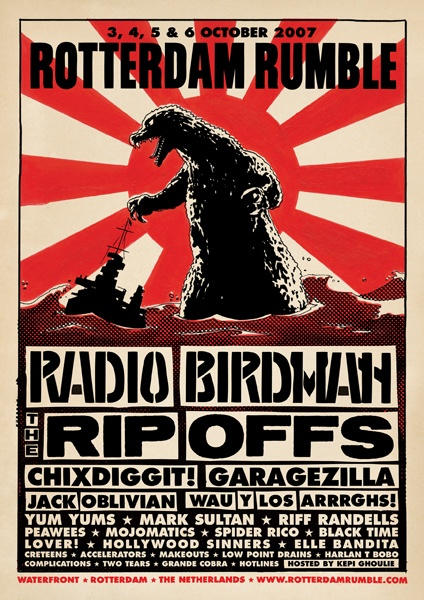 GigPosters.com - Radio Birdman - Rip-offs, The - Chixdiggit - Garagezilla - Jack Oblivian - Wau Y Los Arrrghs!!! - Yum Yums, The - Mark Sultan - Riff Randells - Peawees - Mojomatics, The - Spider Rico - Black Time - Lover! - Hollywood Sinners - Elle Bandita - Creteens, The - Accelerators, The - Makeouts, The - Low Point Drains - Harlan T Bobo - Complications, The - Two Tears - Grande Cobra - Hotlines, The - Kepi Ghoulie