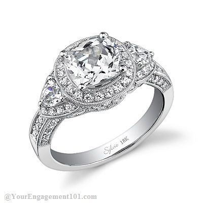 Sylvie Collection_SY447-0108 - Cushion cut engagement ring
