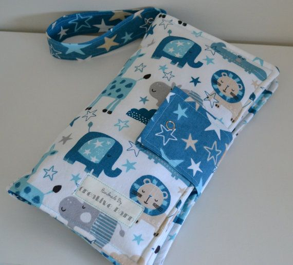 Baby Boy Animal Nappy Wallet by BecsCreativeBarn on Etsy