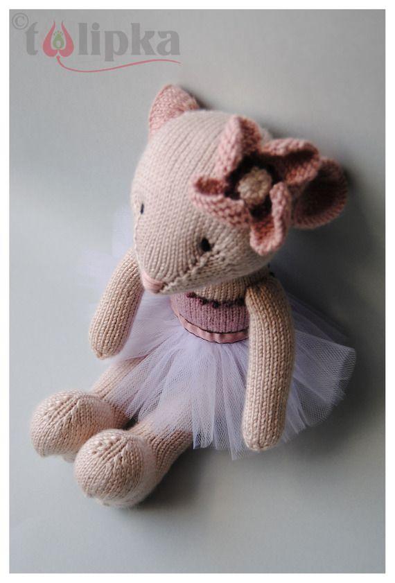 Ella, jouet souris ballerine beige personnalisable