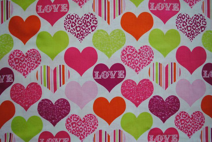 Love, kinderstof van Michael Miller Fabrics. Verkrijgbaar via www.jipps.nl