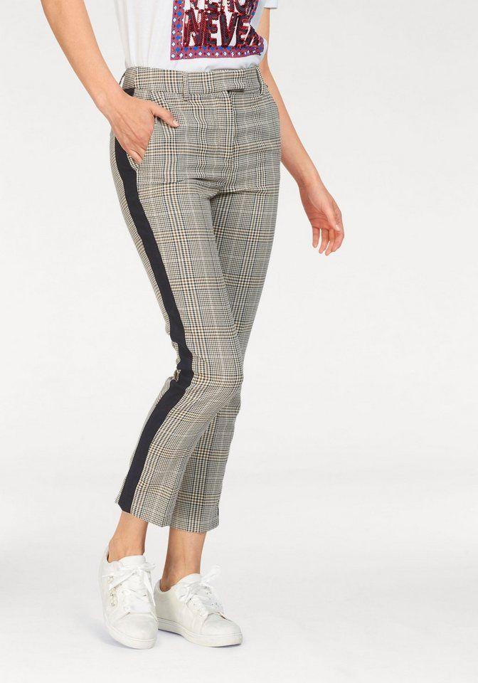 Nicowa Lange Hose Mit Pepita Muster Und Streifen