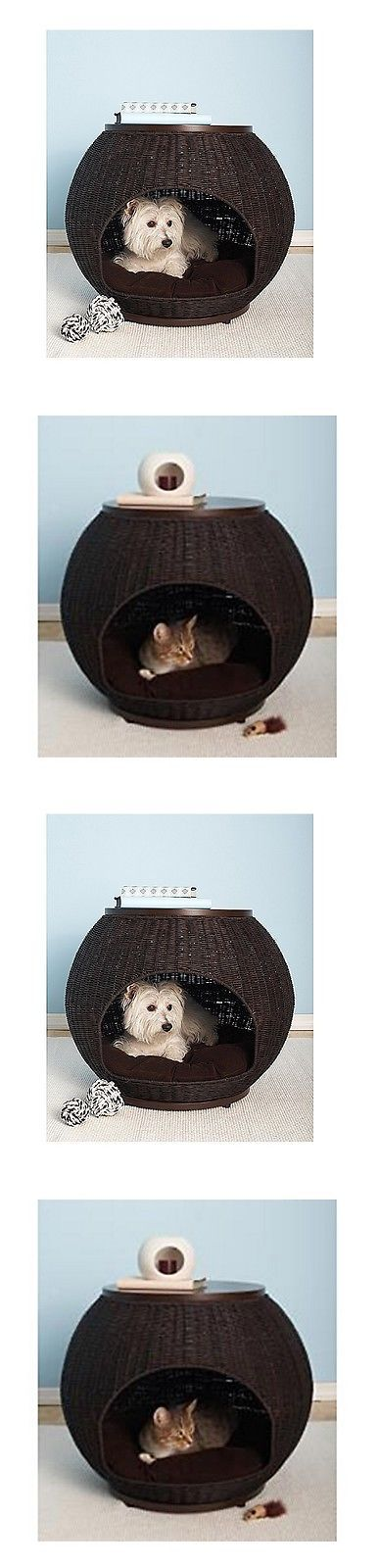 Animals Dog: Cat Furniture Modern Small Dog House Indoor Bed End Table Pet Supplies Kennel BUY IT NOW ONLY: $211.99