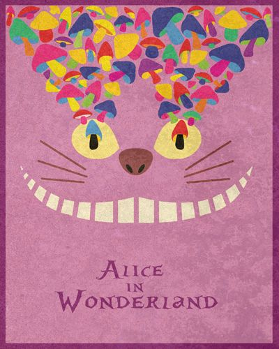 #alice in wonderland   Minimal Movie Posters  Retro Disney Exhibition by Taylor Denning