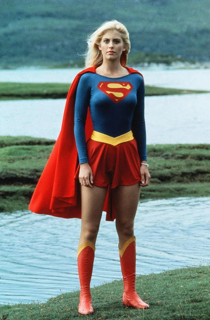 Supergirl, this may be from the movie but a good guide for anyone making a cosplay if it were so and not a really good cosplay of the movie version of Supergirl