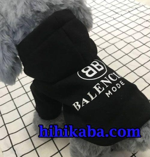 uk availability 59d59 bee4c Balenciaga 犬服 パーカー バレンシアガ ドッグウェア 黒 秋冬用 ...