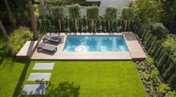 pool in kleinem garten haus pinterest kleine g rten. Black Bedroom Furniture Sets. Home Design Ideas
