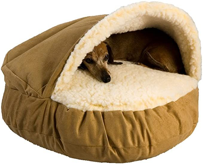 Amazon Com Ethical Pets Sleep Zone Faux Suede Cuddle Cave Dog Bed Fabric Bottom 22x17 Inches Tan Attractive Durable Comfor Cave Dog Bed Dog Bed Cat Bed