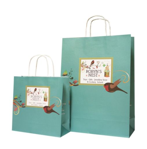 #gardenbags #uniquedesignbags #gardenpresentbags #cheerfulbags Custom Printed Paper Bag with cheerful design and gorgeous colour combination. Strong twisted handles and a variety of sizes make this a very versatile packaging option.