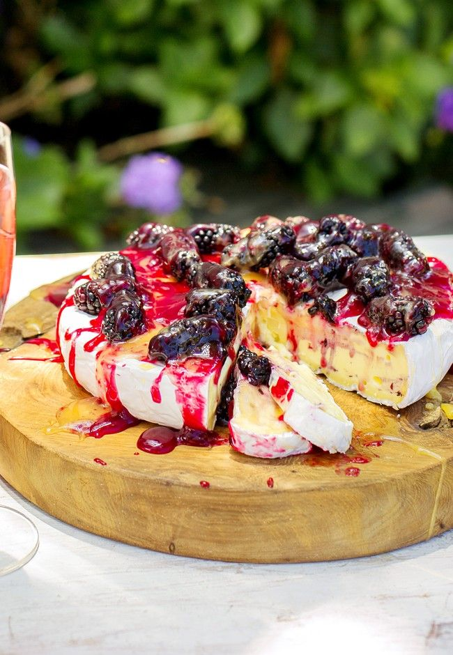 Sun kissed Brie and Berry Cake