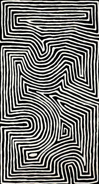 More mesmerizing optical art - looks simple - but very carefully planned