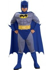 Kids Grey Batman with Muscle Chest Costume