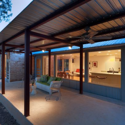 Steel Frame House Design Ideas, Pictures, Remodel, And Decor   Page 15.  Contemporary PatioRoof ...