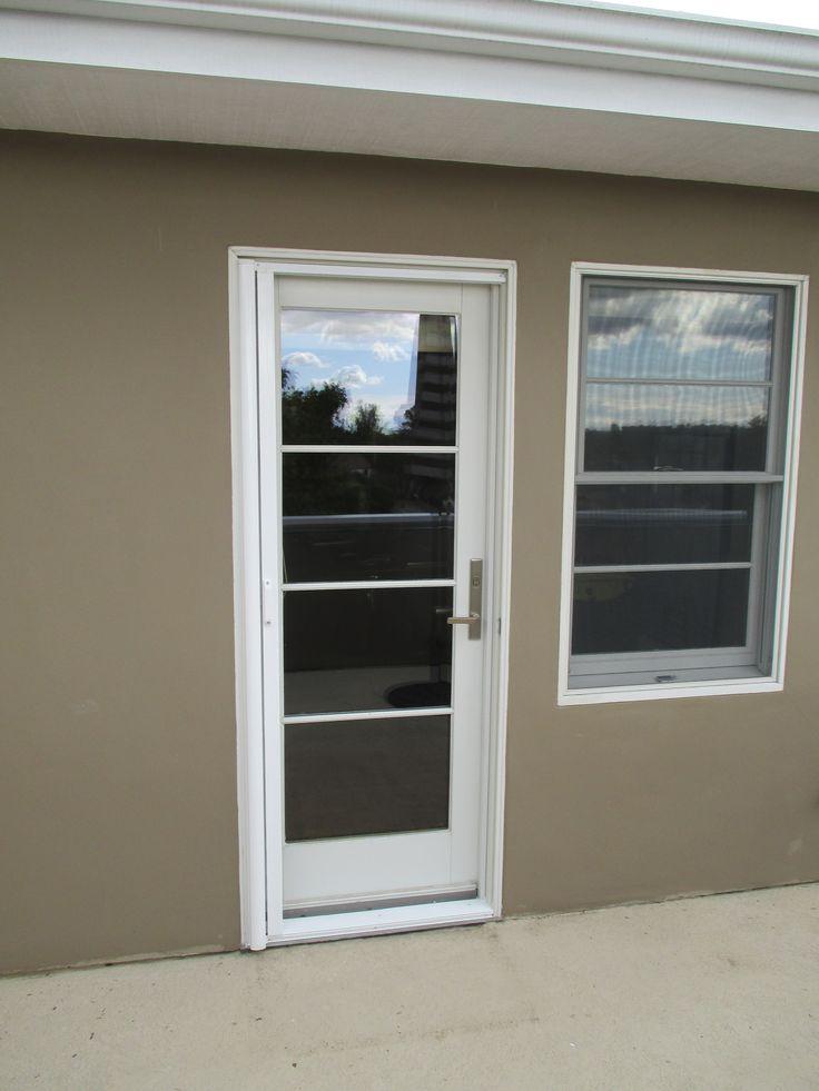 Single Door Stowaway Retractable Screen Door Installed On