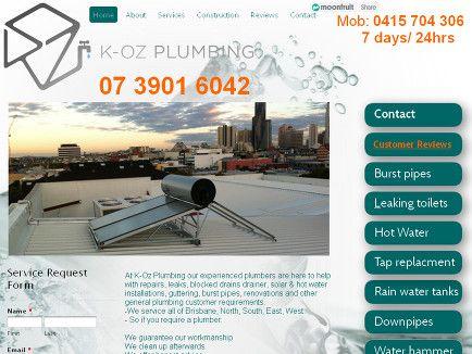 K-Oz plumbing website Carina - Plumbers in carina