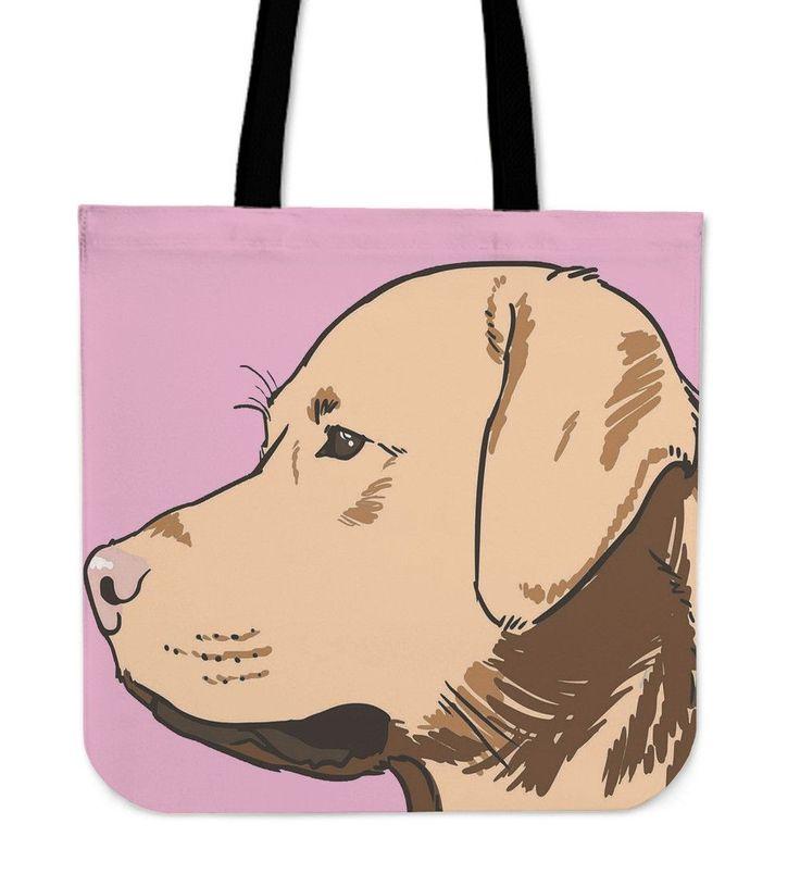 Labrador Pink Tote Bag