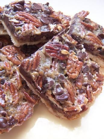 Chocolate Pecan Pie Bars (because I need more sugar like I need a hole in the head)