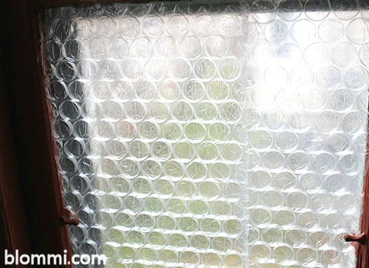If you don't intend to open your window for a while, you can tape on some bubble wrap to insulate it and keep out the drafts