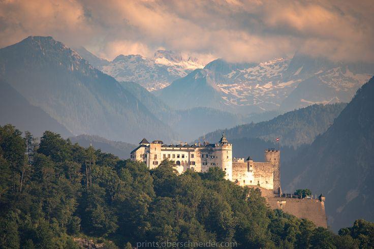 Fortress Hohensalzburg in Salzburg at Sunset by Christoph Oberschneider on 500px