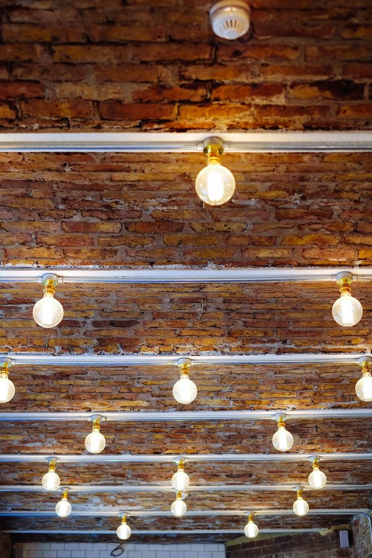 Ruffians Covent Garden, lightbulbs from Urban Cottage Industries