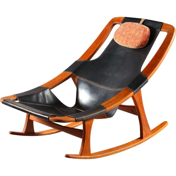 Scandinavian Rocking Chair Holmenkolm by Arne Tidemand Ruud