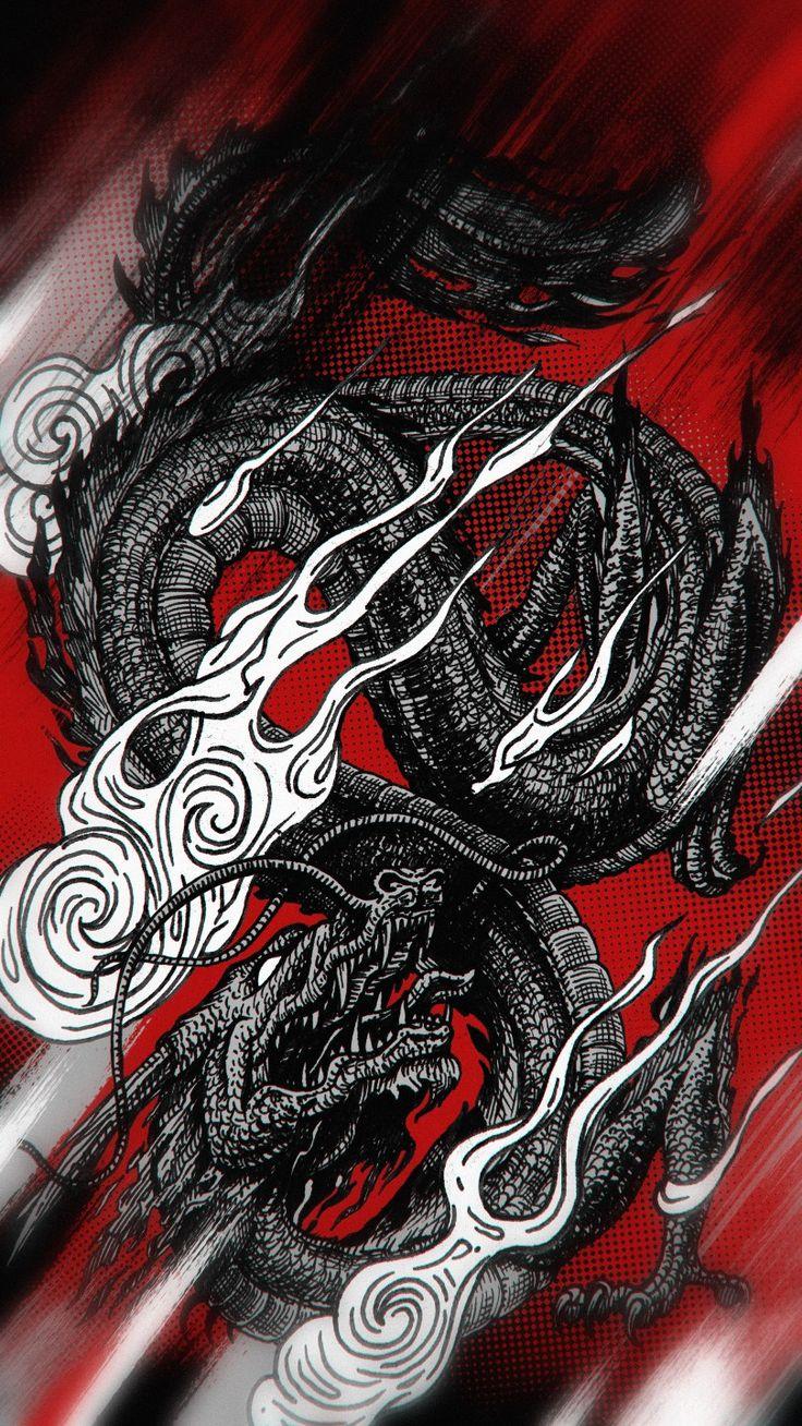 Dragon Wallpaper Dragon Wallpaper Iphone Samurai Wallpaper Japanese Artwork