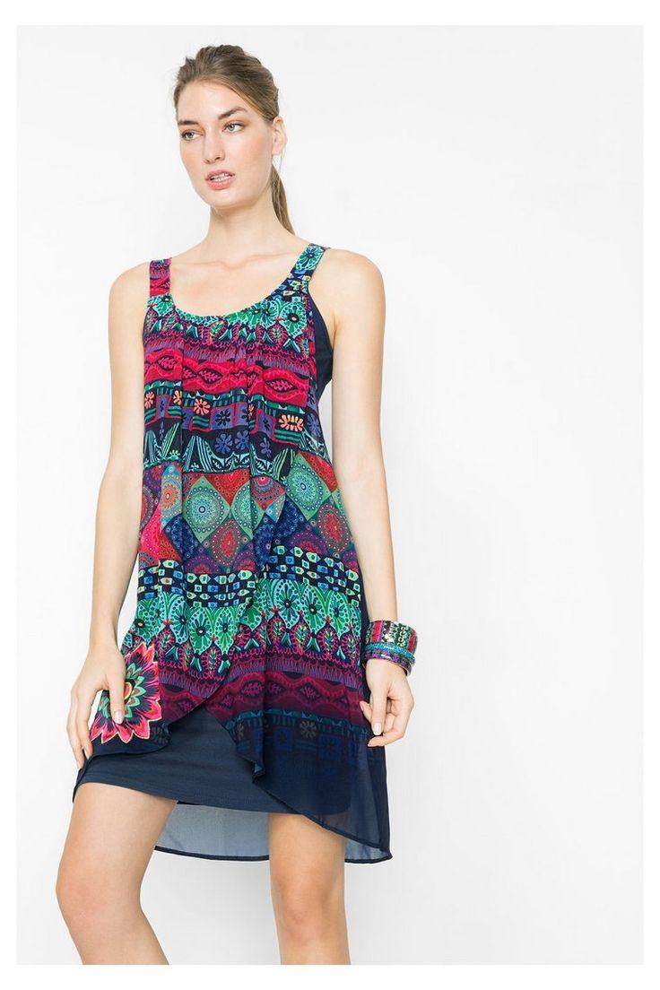 Gelaagde jurk met gaaseffect | Desigual.com B