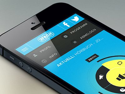 Concept Radio App by Jonas Hermann - Mobile interface UI UX