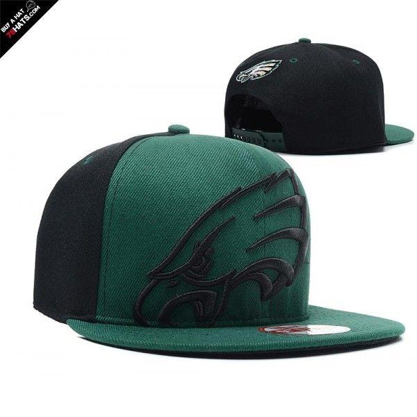 NFL Black Green Philadelphia Eagles NE Snapback Hat 15