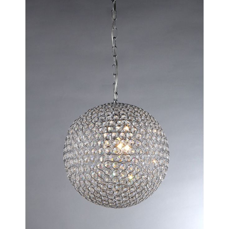Bring a touch of drama and glamour to your home decor with this gleaming chrome chandelier a sphere of round cut crystals shimmers around four lights