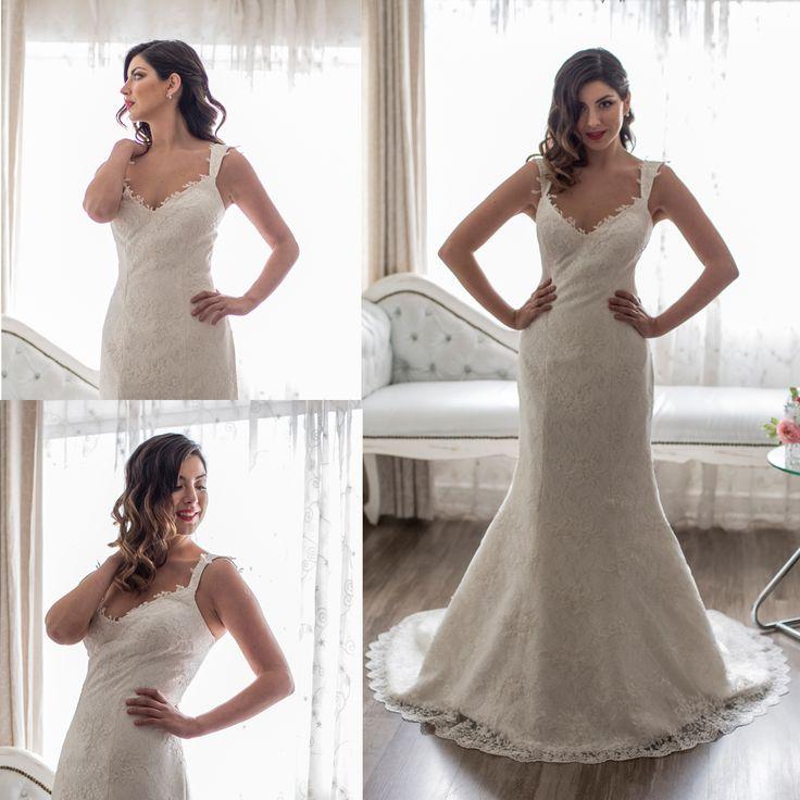 Vestido de novia sirena · Wedding dresses mermaid with cap sleeves