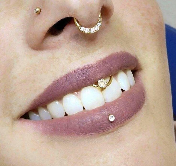Lippenbändchenpiercing Lippenbändchen Septumpiercings