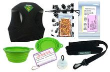 In Cabin Pet Airline Travel Kit - (HARNESS) - DryFur - Pet Airline Travel Supplies  (NEED MEDIUM) $24.95 without absorbent pads, so I probably will add on the 2 blue medium Dry Fur Pads.