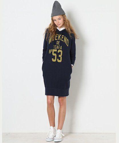 子供っぽすぎないのがポイント☆おしゃれなパーカーワンピのコーデ♡スタイル・ファッションの参考に♪