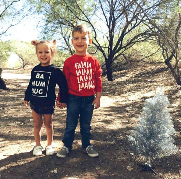 Matching Christmas Sweaters funny pair / bah hum bug and falalala / Kids holiday sweater by WellSaidCreations on Etsy https://www.etsy.com/listing/257982879/matching-christmas-sweaters-funny-pair
