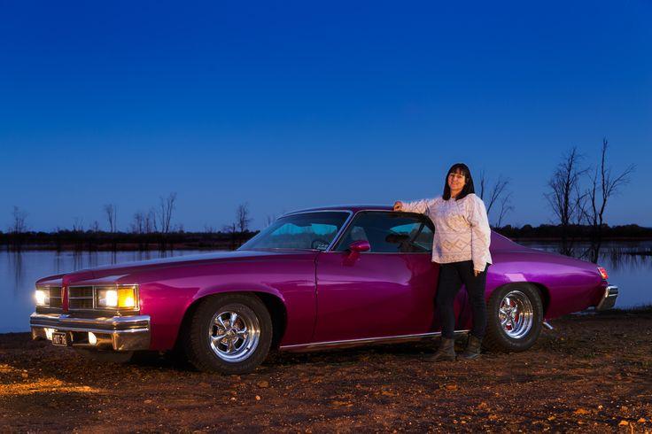 Leeanne Hodge with her 1976 Pontiac Lemans