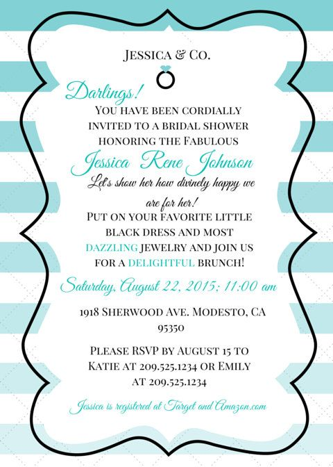 Email Baby Shower Invitation Templates Breakfast At Tiffanys Themed