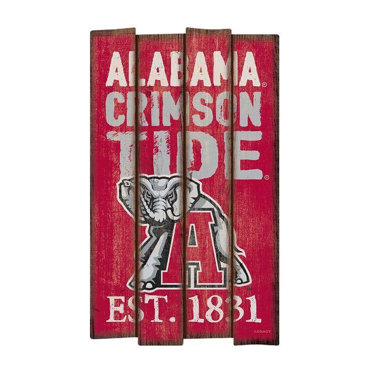 Legacy Athletic Alabama Crimson Tide Plank Sign, Multicolor