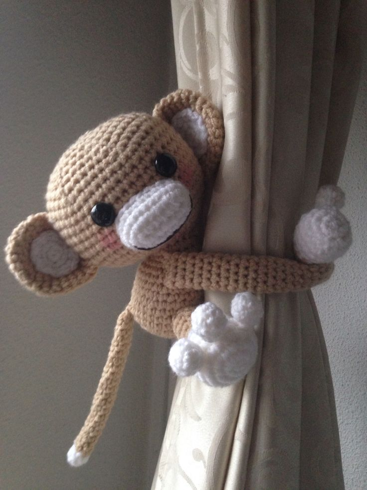 Gordijn aapje! Zelf bedacht patroon