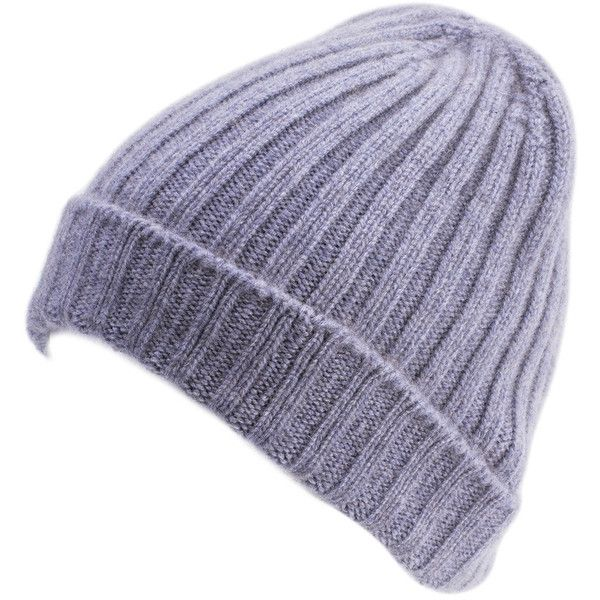 Gray Blue Cashmere Wool Beanie (89 CAD) ❤ liked on Polyvore featuring accessories, hats, cashmere beanie, grey beanie, grey beanie hats, beanie cap hat and blue beanie