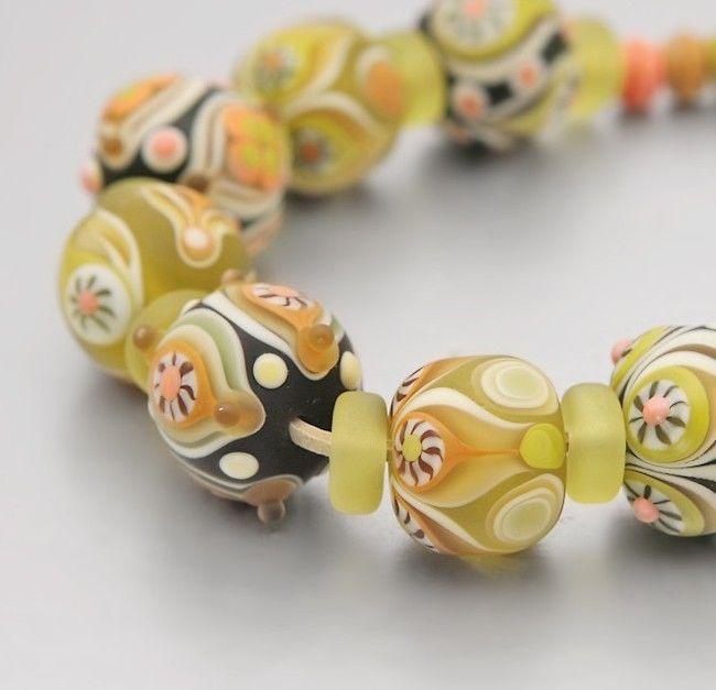 nelgetta set of 7 14 pcs handmade lampwork beads lampwork