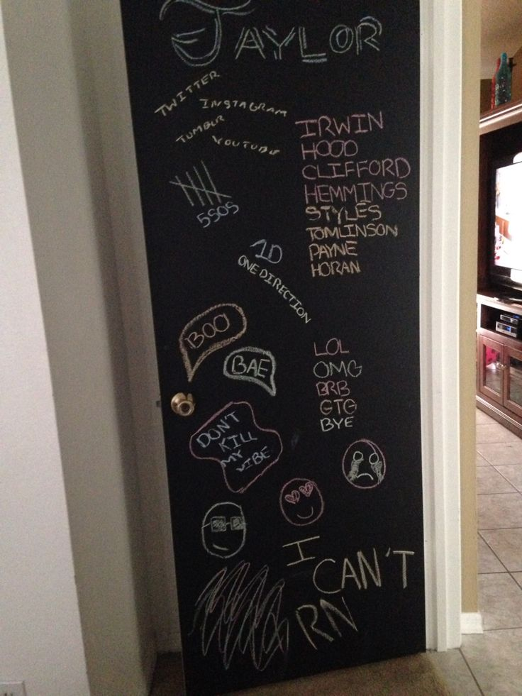 chalkboard door buy chalkboard paint sold at walmart or lowes and paint two coats on your. Black Bedroom Furniture Sets. Home Design Ideas
